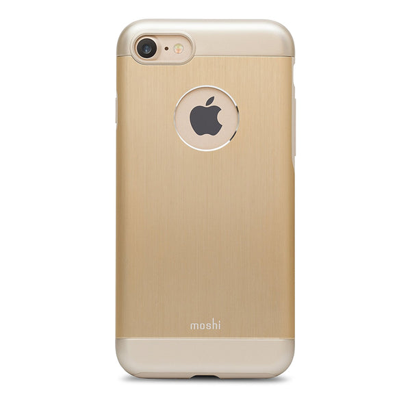 Moshi iGlaze Armour Premium Aluminum Case for iPhone 7/8 (Satin Gold) - Equipment Blowouts Inc.