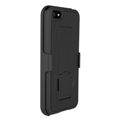 PureGear Case with kickstand + holster for iPhone 5/5s/SE -  Black