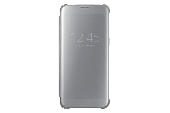 Samsung S-View Flip Clear Cover for Samsung Galaxy S7 Edge - Silver - Equipment Blowouts Inc.