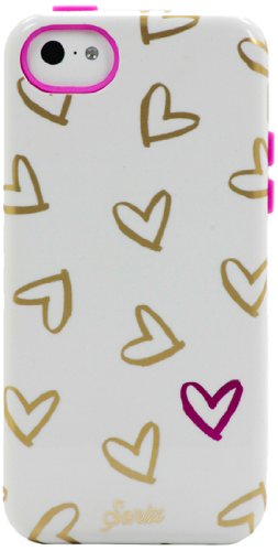 Sonix Inlay Case for iPhone 5C - White Heart To Heart - Equipment Blowouts Inc. Established 2005.