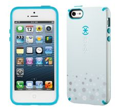 Speck Candyshell Case for Iphone 5/5s - Turquoise Snowflakes - Equipment Blowouts Inc.