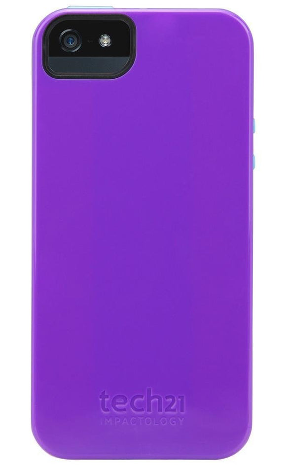 Tech21 Impactology  Impact Trio Case for iPhone 5 - Purple - Equipment Blowouts Inc. Established 2005.