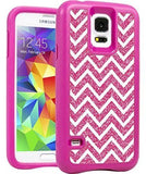 Case Of 100 Xtreme Armour Galaxy S5 case Pink Chevron - Equipment Blowouts Inc.