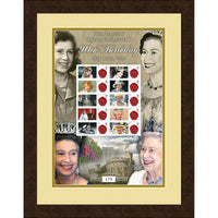HM Queen Elizabeth II Framed 60th Anniversary Framed GB Collectors Stamps Sheet