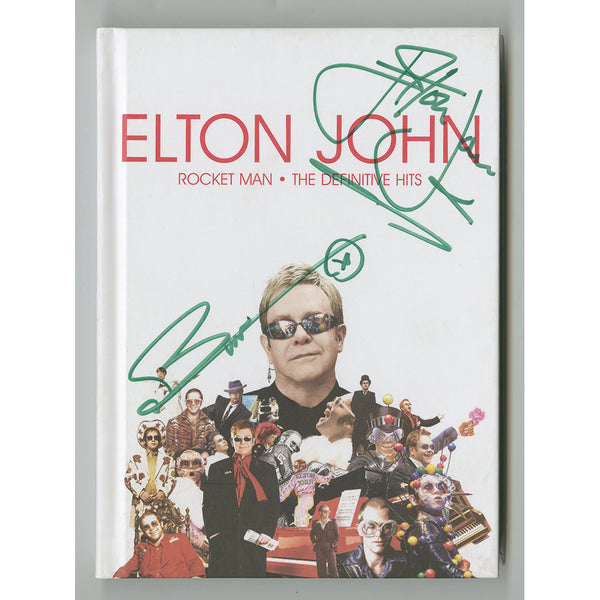 Elton John & Bernie Taupin Collectors Edition Book,CD & DVD Personally Signed by Both