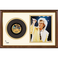 Rod Stewart Framed & Mounted Photo & Original Vinyl Single Record Display