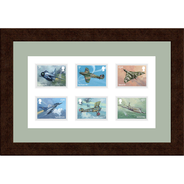100 Years of RAF Framed GB Official Full Set of RAF Postage Stamps