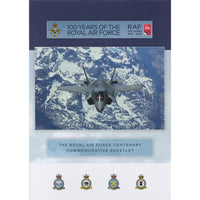 Isle of Man 100th Anniversary Years of the RAF Collectors official Stamps Collection Folder