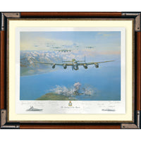 Sinking of The Tirpitz Framed & Mounted Art Print Numbered Limited Edition of 850 only