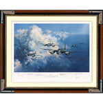 Mosquito RAF Aircraft Rare Framed & Mounted Art Print Multi Signed by hand