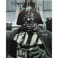 Dave Prowse as Darth Vader Mounted Head & Shoulders Photo Personally Signed