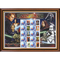 Star Wars Revenge of the Sith Framed & Mounted Rare Australian Collectors Stamp Sheet