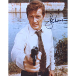Roger Moore as James Bond Mounted Photo Personally Signed