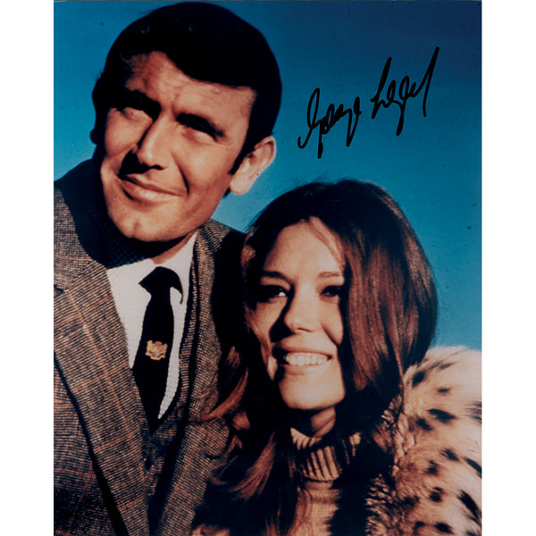 George Lazenby as James Bond Mounted Photo Personally Signed
