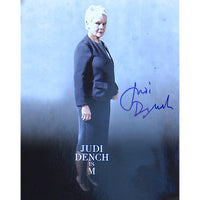 Judi Dench as M Mounted Photo Personally Signed