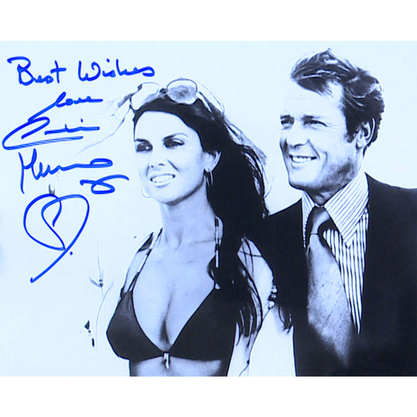 Caroline Munro Mounted Photo Personally Signed
