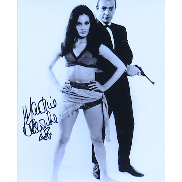 Martine Beswick Mounted Photo Personally Signed