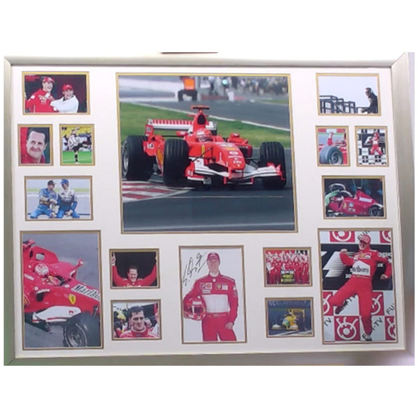 Michael Schumacher Framed & Mounted Photo Presentation Display Personally Signed
