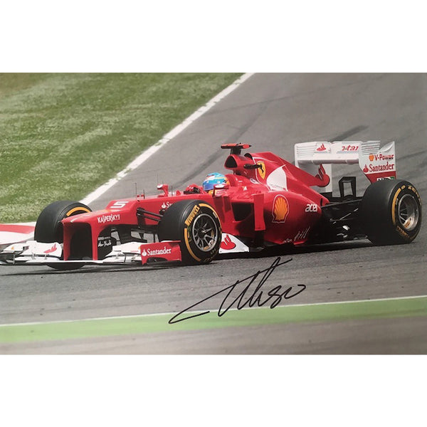 Fernando Alonso Mounted Colour Photo Personally Signed