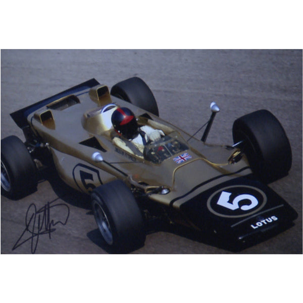 Emerson Fittapaldi Mounted Colour Photo Personally Signed