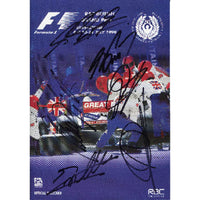 British Grand Prix 1999 Programme Multi Signed by 6 Formula One Drivers