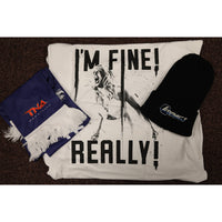 Wow Extravaganza Pack No 1  ( I'm Fine Really T Shirt, Beanie Hat & TNA Scarf ) All Sizes