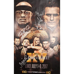 Impact Wrestling July 2017 Official poster Multi Signed