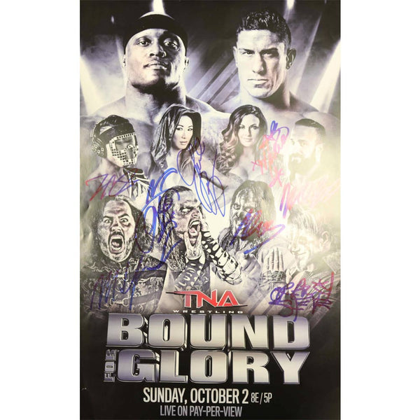 TNA Bound for Glory Wrestling Poster Multi Signed