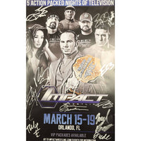 Impact Wrestling January 2018 Official Programme Multi Signed