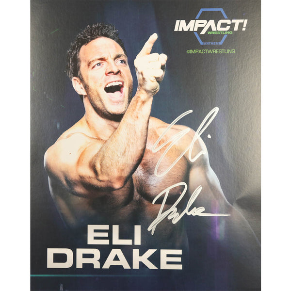 Eli Drake Photo Personally Signed