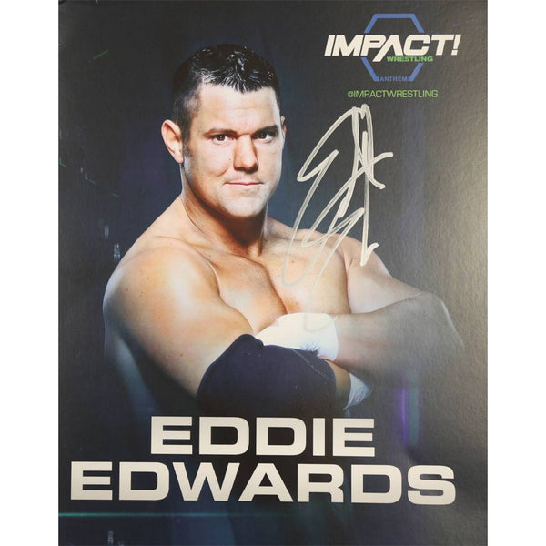 Eddie Edwards - The Wolves Photo Personally Signed