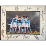 Manchester City Framed & Mounted Action Team Photo Multi Signed