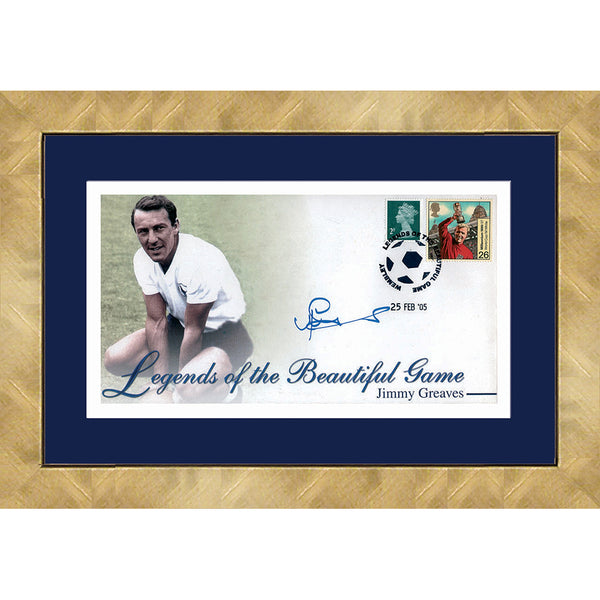 Jimmy Greaves Personally Signed Framed Football Legends Print