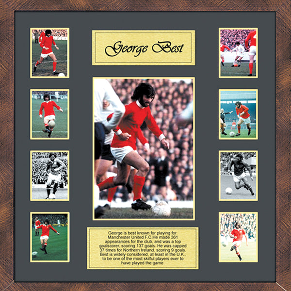 George Best Framed Film Cells Montage Display