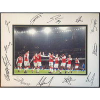 Arsenal FC Framed & Mounted Action Team Photo Multi Signed