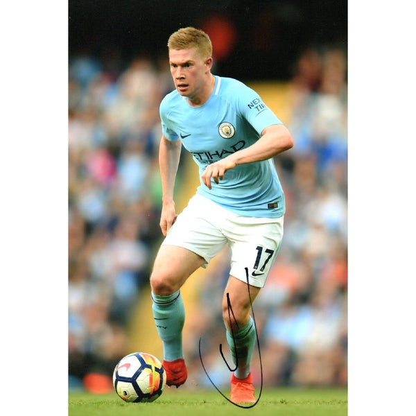 Kevin De Bruyne Mounted Action Photo Personally Signed