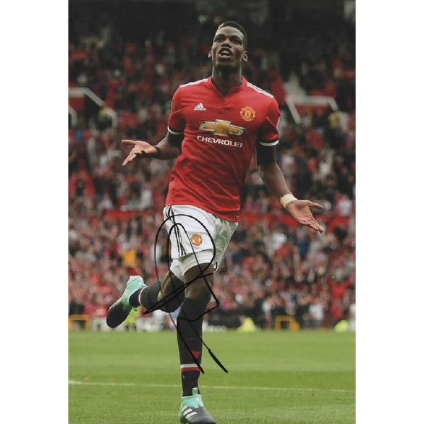 Paul Pogba mounted Action Photo Personally Signed