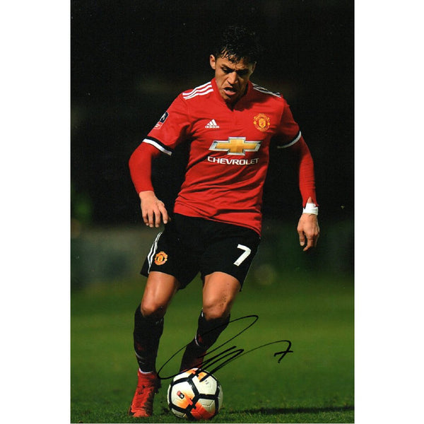 Alexis Sanchez Mounted Photo Personally Signed