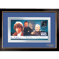 Dr Who Framed Celebration Cover Pers.Signed by Molloy/Ainsley & Tom Baker