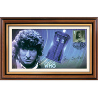 Dr Who Tardis Framed Celebration Illustrated Cover Personally Signed by Tom Baker