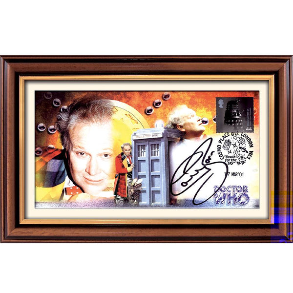 Dr Who Framed Special First Day Cover Personally Signed by Colin Baker