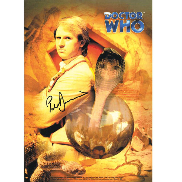 Peter Davison as Dr Who Photo Card Personally Signed