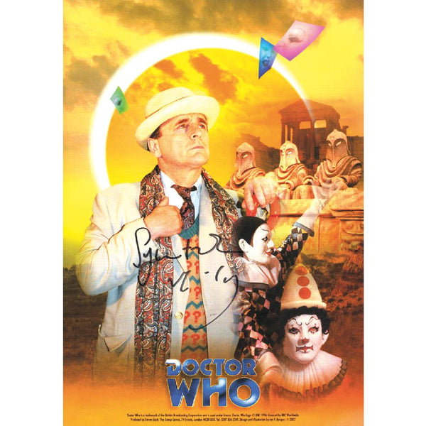 Sylvester McCoy as Dr Who Photo Card Personally Signed