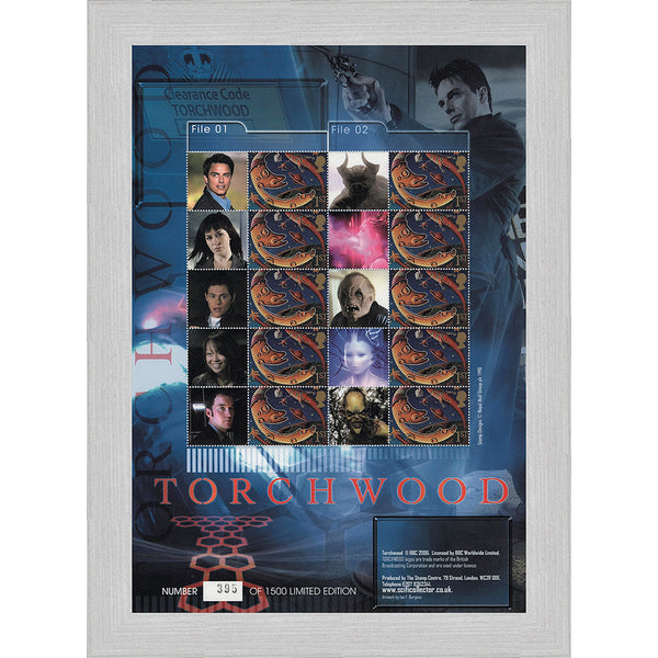 Torchwood Collectors Customised GB Stamps Sheetlet