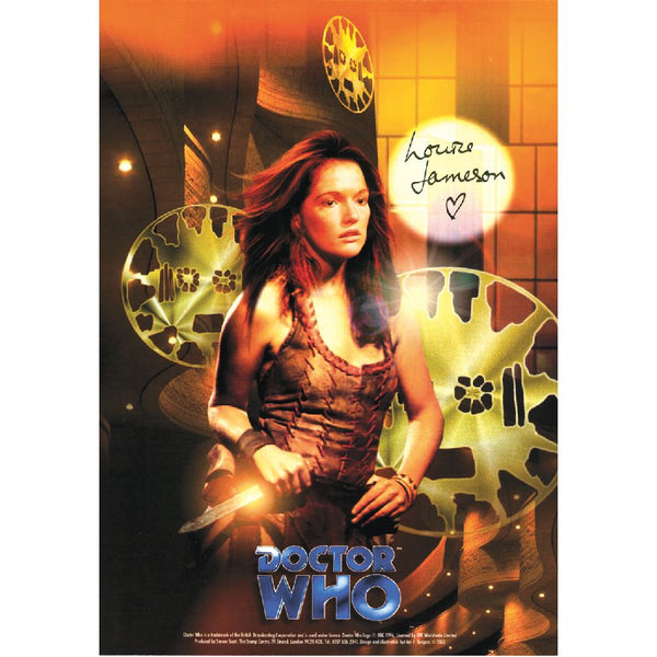 Louise Jamieson in Dr Who Pose Photo Card Personally Signed