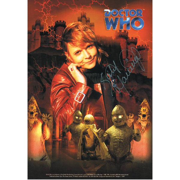 Katy Manning in Dr Who Pose Photo Card Personally Signed