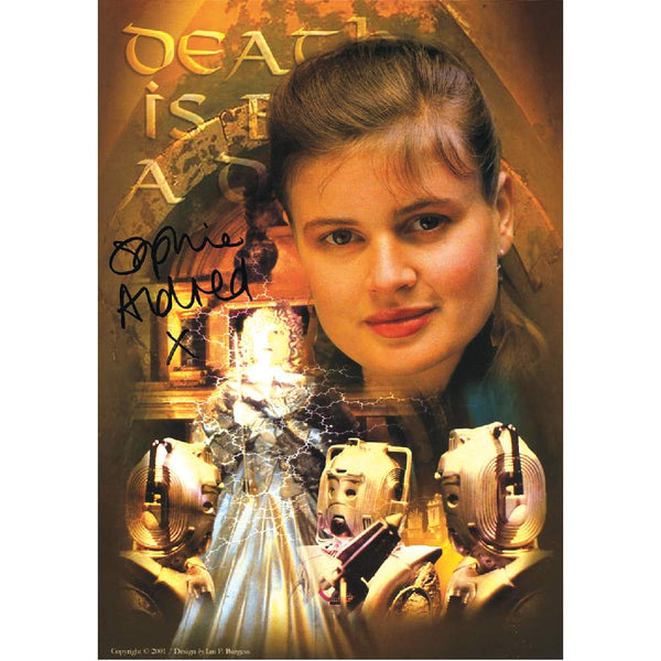Sophie Aldred in Dr Who Pose Photo Card Personally Signed