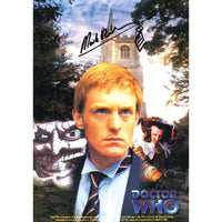 Mark Strickson in Dr Who Pose Photo Card Personally Signed