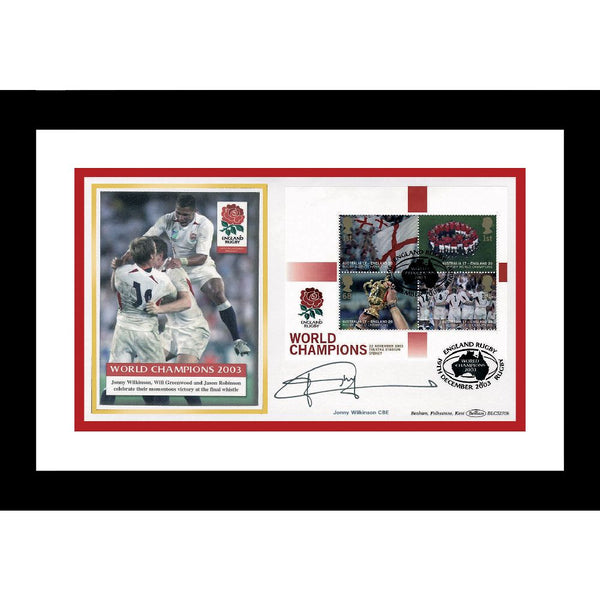 England 2003 Rugby World Champions Framed Celebration Cover Signed by Jonny Wilkinson