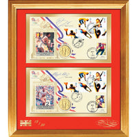 Olympic Games 1996 Framed Cover Pers.signed Daley Thompson & Mary Peters